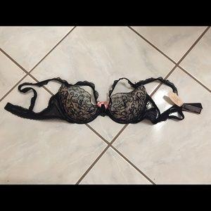 Victoria Secret black lace lingerie bra